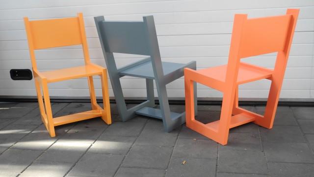 Kleurrijke stoeltjes