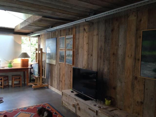 Relaxruimte in steigerhout @ Fam.Van der Weele Berkel-Enschot